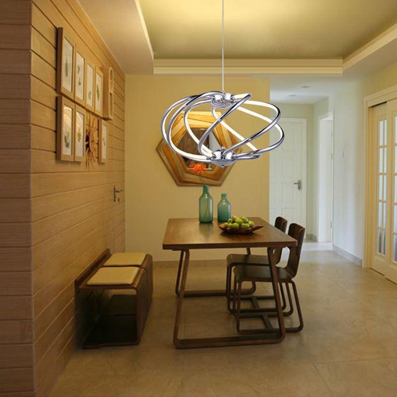 moderne h ngeleuchte led erde design chrom. Black Bedroom Furniture Sets. Home Design Ideas