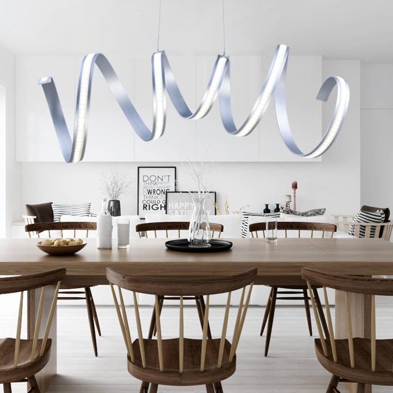 eu lager led pendelleuchte modern stilvoll aus aluminium. Black Bedroom Furniture Sets. Home Design Ideas