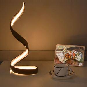 (EU Lager)Moderne Tischleuchte Led Welle Design Weiß