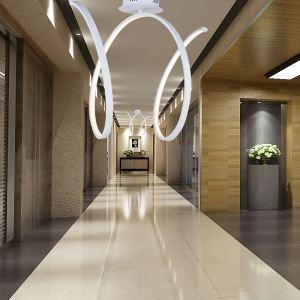 (EU Lager)Moderne Deckenleuchte Led Welle Design Weiß