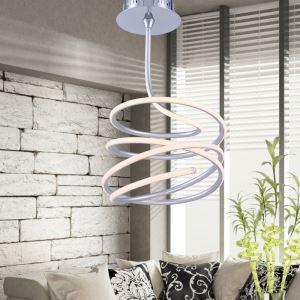(EU Lager)Moderne Deckenleuchte Modern Welle Design aus Aluminium+Acryl Weiß