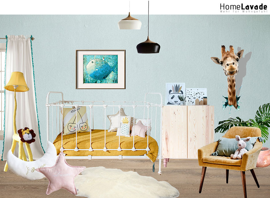 moderne stehlampe cartoon l we design im kinderzimmer. Black Bedroom Furniture Sets. Home Design Ideas