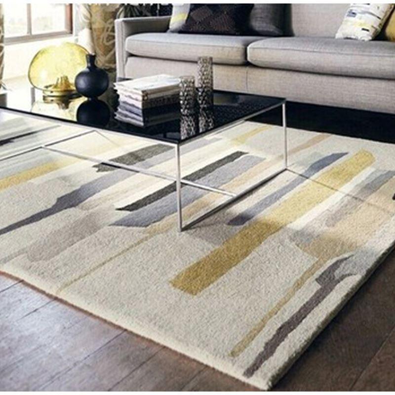 stilvoller teppich modern geometrisch design aus polypropylen im wohnzimmer b. Black Bedroom Furniture Sets. Home Design Ideas
