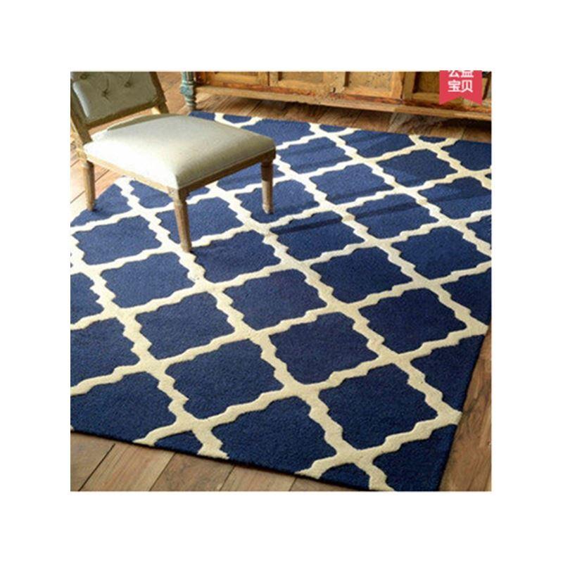 Teppich Modern Geometrisch Design aus Polypropylen im Wohnzimmer-D