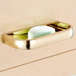 (EU Lager)Seifenschale Seifenhalter Bad aus Messing Gold