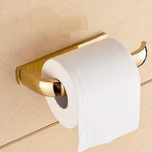 (EU Lager)Toilettenpapierhalter Badzubehör aus Messing Gold