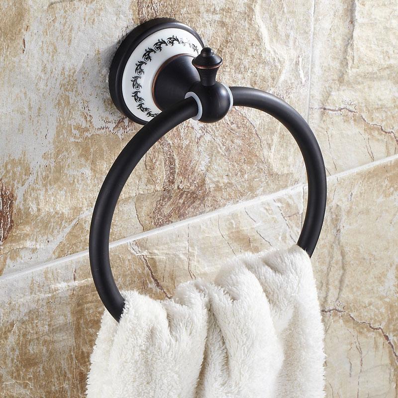 handtuchring wand schwarz bad accessoires. Black Bedroom Furniture Sets. Home Design Ideas