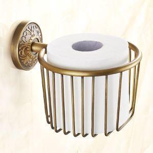 (EU Lager)Toilettenpapierhalter Wand Antik Messing Badzubehör