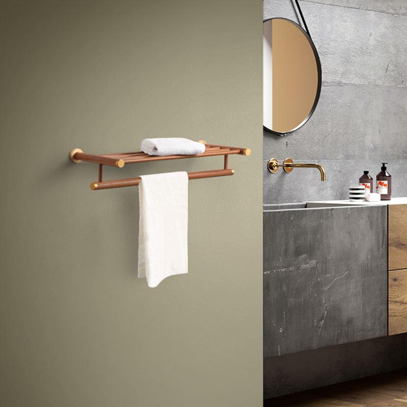 Handtuchablage bad handtuchhalter holz for Handtuchhalter holz