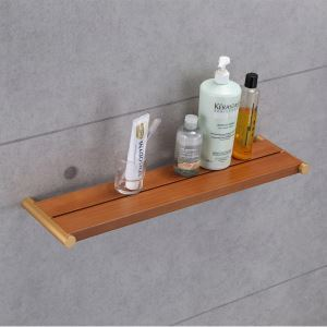 (EU Lager)Badablage Dusche Wandmontage aus Holz