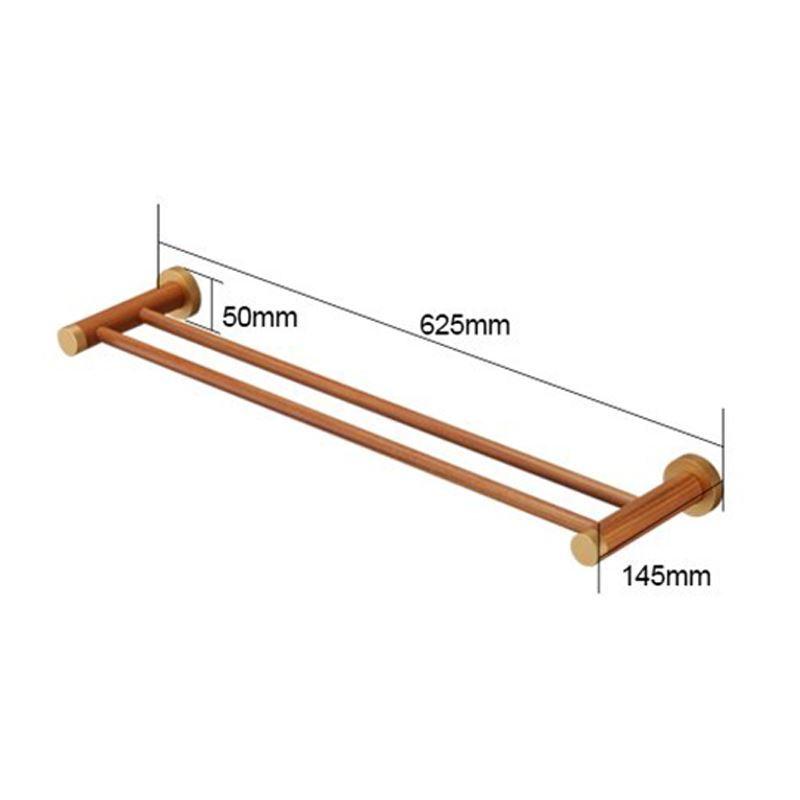 handtuchstange doppelt handtuchhalter wandmontage aus holz. Black Bedroom Furniture Sets. Home Design Ideas