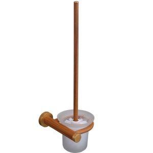 (EU Lager)WC Bürstengarnitur mit Halter aus Holz
