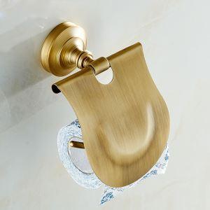 (EU Lager)Antik Messing Toilettenpapierhalter Bad Wandmontage