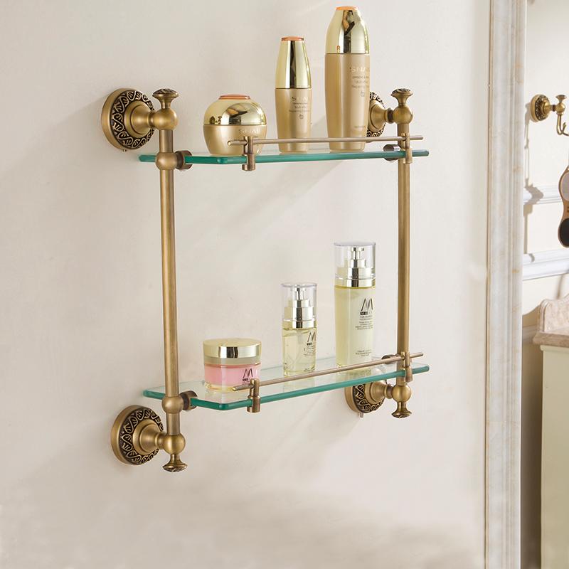 ablage glas badablage antik messing bad accessoires. Black Bedroom Furniture Sets. Home Design Ideas