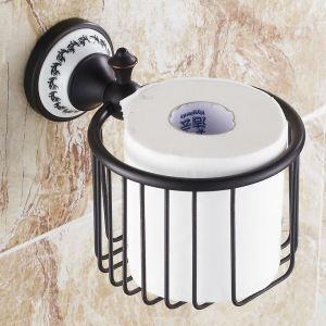 (EU Lager)Toilettenpapierhalter Bad Wandmotage Schwarz