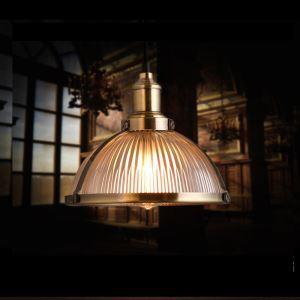 (EU Lager)Glas Pendelleuchte Rustikal aus Eisen 1-Flammig