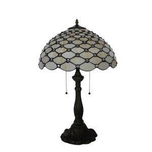 (EU Lager)Tiffany Tischleuchte Perlmutt Design Glas Schirm im Wohnzimmer