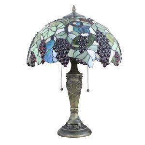 (EU Lager)Tiffany Tischleuchte Weintraube Design Glas Schirm in 40cm Durchmesser