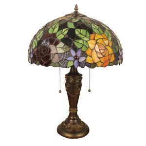 (EU Lager)Tiffany Tischleuchte Sonnenblume Design Glas Schirm in 40cm Durchmesser