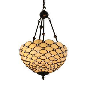 (EU Lager)Bezaubernde Hängeleuchte Tiffany Stil Glas Schirm im Schlafzimmer