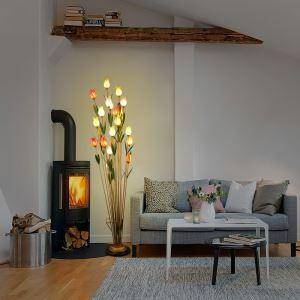(EU Lager)Florentiner Stehleuchte Led Glas Tulpen Design 21-flammig