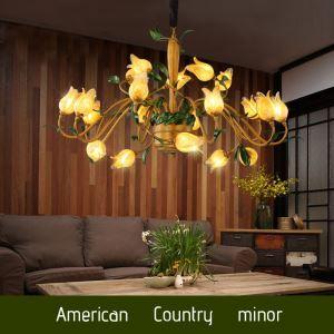 Zauberhafte Hängeleuchte Led Florentiner Glas Tulpen Design 20-flammig