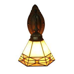 (EU Lager)Schöne Wandleuchte Flur Tiffany Stil Geometrisch Design D15cm 1 Flammig