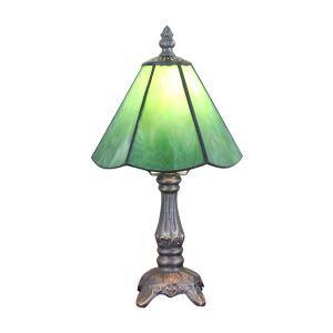(EU Lager)Dekorative Tischleuchte Tiffany Stil Grün Lampenschirm D15cm 1 Flammig im Schlafzimmer