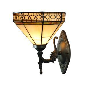 (EU Lager)Klassische Wandleuchte Tiffany Stil D20cm 1-flammig im Flur