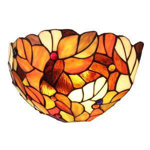 (EU Lager)D30cm Farbenprächtige Wandleuchte Tiffany Stil 1-flammig im Flur