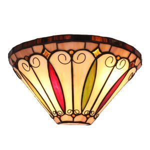 (EU Lager)D30cm Außergewöhnliche Wandleuchte Tiffany Stil 1-flammig im Flur
