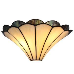(EU Lager)D30cm Tiffany Wandleuchte Welle Design 1-flammig im Schlafzimmer