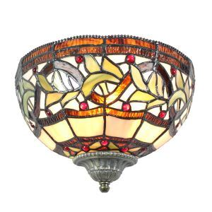 (EU Lager)Ansprechende Wandleuchte Tiffany Stil D25cm 1-flammig im Schlafzimm