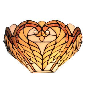(EU Lager)D30cm Tiffany Wandleuchte Herz Design 1-flammig im Flur