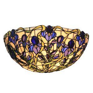 (EU Lager)D30cm Tiffany Wandleuchte Blaue Floral Design 1-flammig im Flur