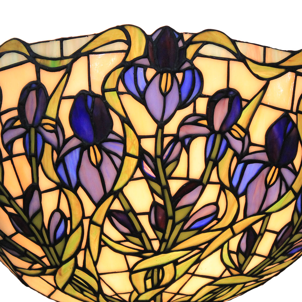 D30cm Tiffany Wandleuchte Blaue Floral Design 1-flammig im Flur