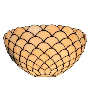 (EU Lager)Tiffany Wandleuchte Fischschuppen Design D30cm 1-flammig im Schlafzimmer