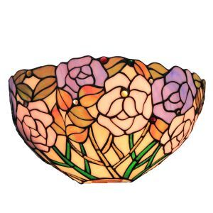 (EU Lager)D30cm Tiffany Wandleuchte Rose Design 1-flammig im Schlafzimmer