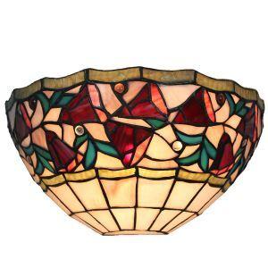 (EU Lager)D30cm Farbenfrohe Wandleuchte Tiffany Stil 1-flammig im Schlafzimmer