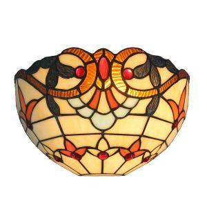 (EU Lager)D30cm Zauberhafte Wandleuchte Tiffany Stil 1-flammig im Flur