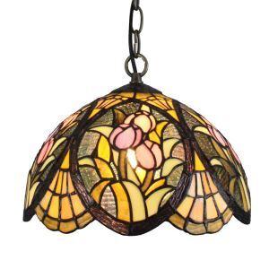 (EU Lager)Eindrucksvolle Pendelleuchte Tiffany Stil D30cm 1-flammig im Esszimmer