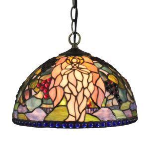 (EU Lager)Tiffany Hängeleuchte Engel Design D30cm 1-flammig im Wohnzimmer