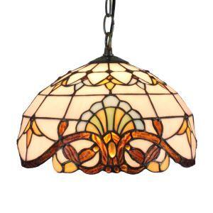 (EU Lager)Bezaubernde Pendelleuchte Tiffany Stil D30cm 1-flammig im Schlafzimmer