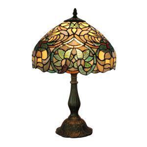 (EU Lager)Wunderschöne Tischleuchte Tiffany Stil D30cm 1-flammig im Wohnzimmer