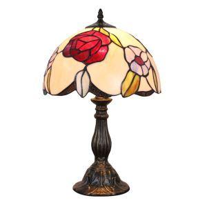 (EU Lager)D30cm Elegante Tischleuchte Tiffany Stil 1-flammig im Schlafzimmer