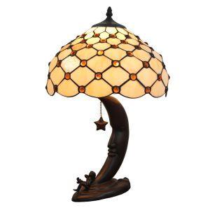 (EU Lager)Elegante Tischleuchte Tiffany Stil D30cm 1-flammig im Wohnzimmer