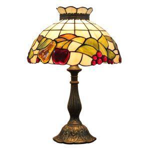 (EU Lager)Bezaubernde Tischleuchte Tiffany Stil D30cm 1-flammig im Wohnzimmer