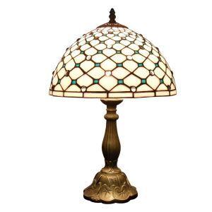 (EU Lager)Anmutige Tischleuchte Tiffany Stil Netz Design D30cm 1-flammig