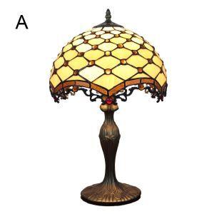 (EU Lager)Stilvolle Tischleuchte D30cm Tiffany Stil 1-flammig im Schlafzimmer