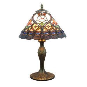 (EU Lager)Eindrucksvolle Tischleuchte Tiffany Stil 1-flammig im Schlafzimmer